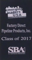 SBA Emerging Leaders Initiative Award for Chris Pasquali of Factory Direct Pipeline Products